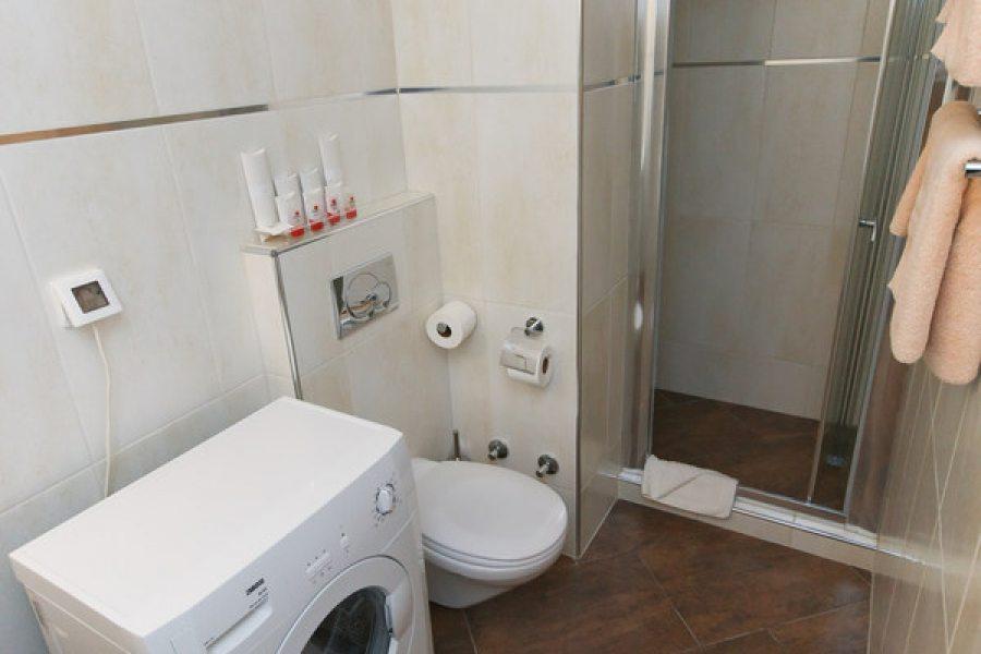 Bathroom in comfort studio apartment