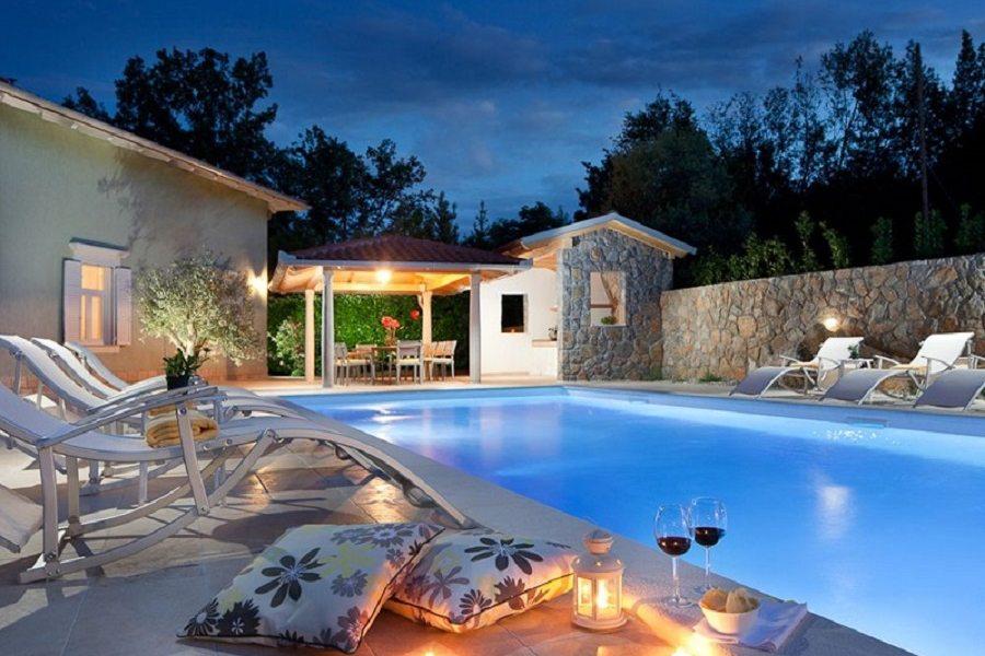 Sulla piscina